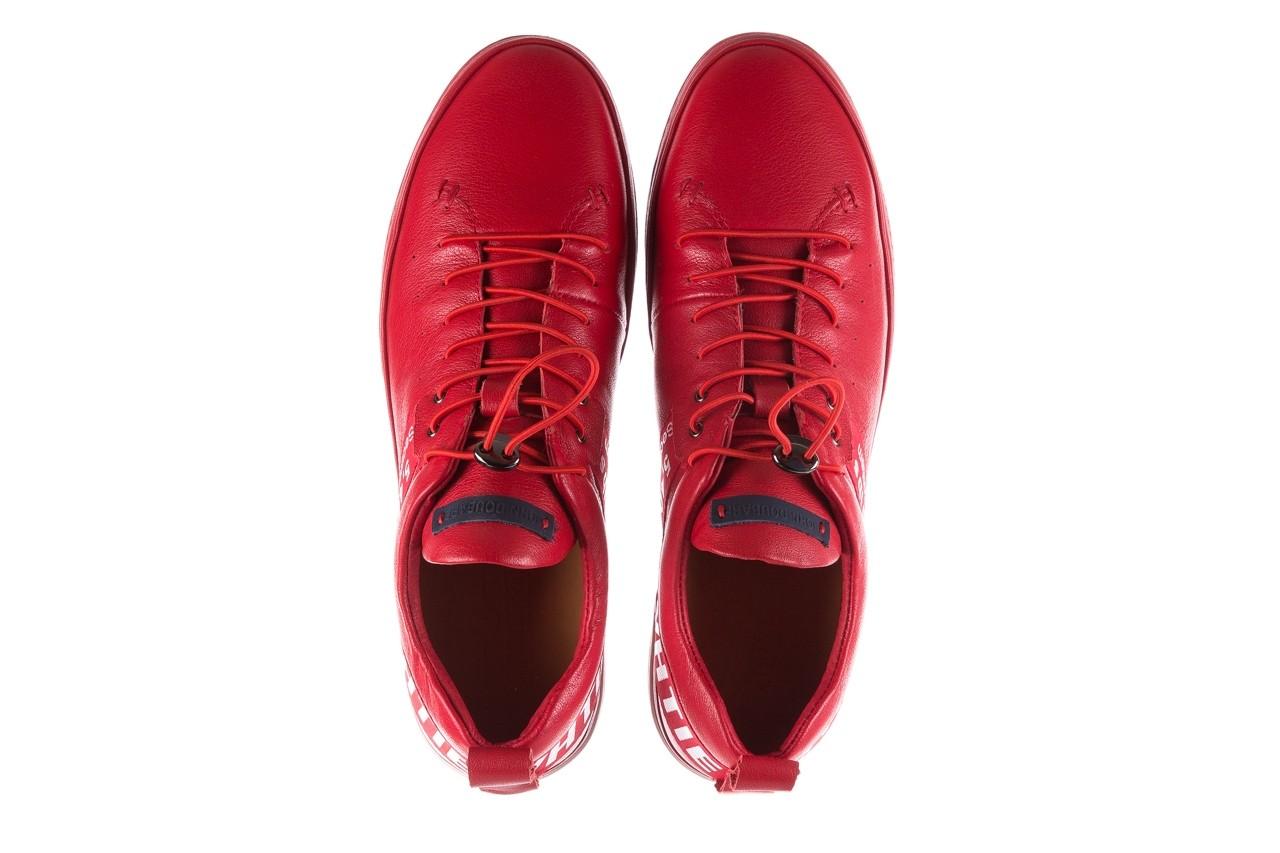 Trampki john doubare m8191-3 red, czerwony, skóra naturalna  - brooman - nasze marki 12