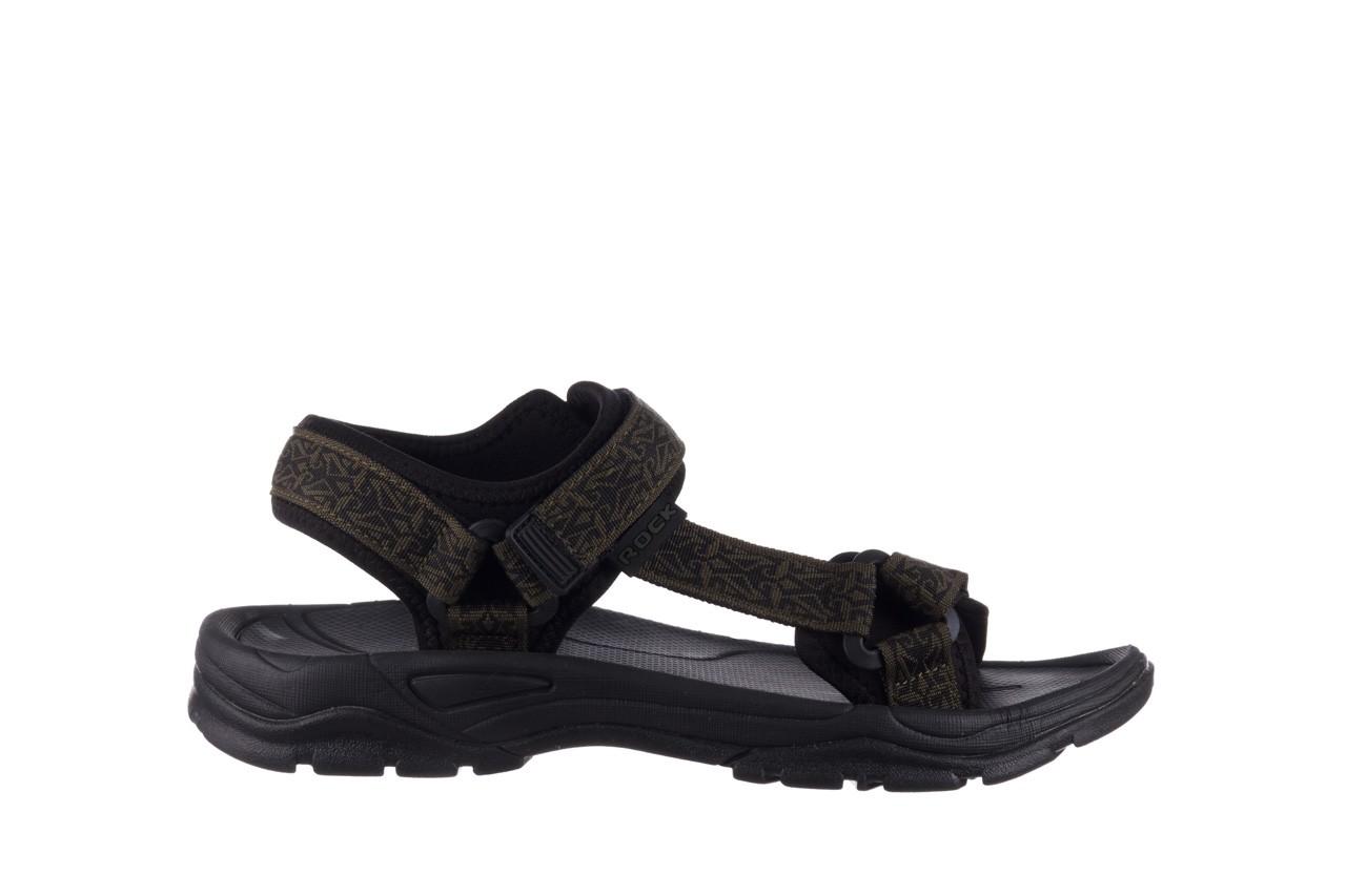Sandały rock kern moss men, zielony/ czarny, materiał  - sandały - buty męskie - mężczyzna 7