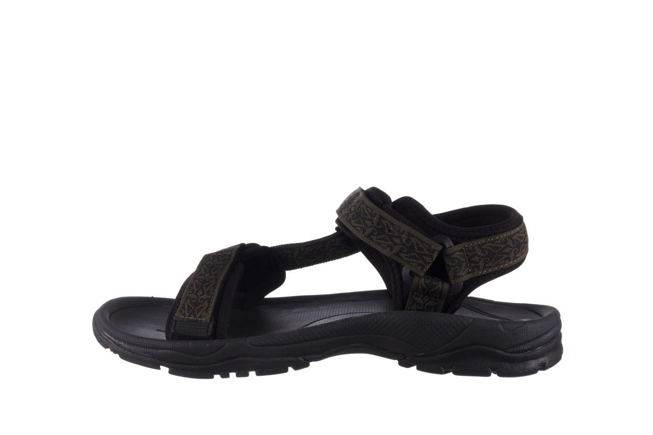 Sandały rock kern moss men, zielony/ czarny, materiał  - buty męskie - mężczyzna 9