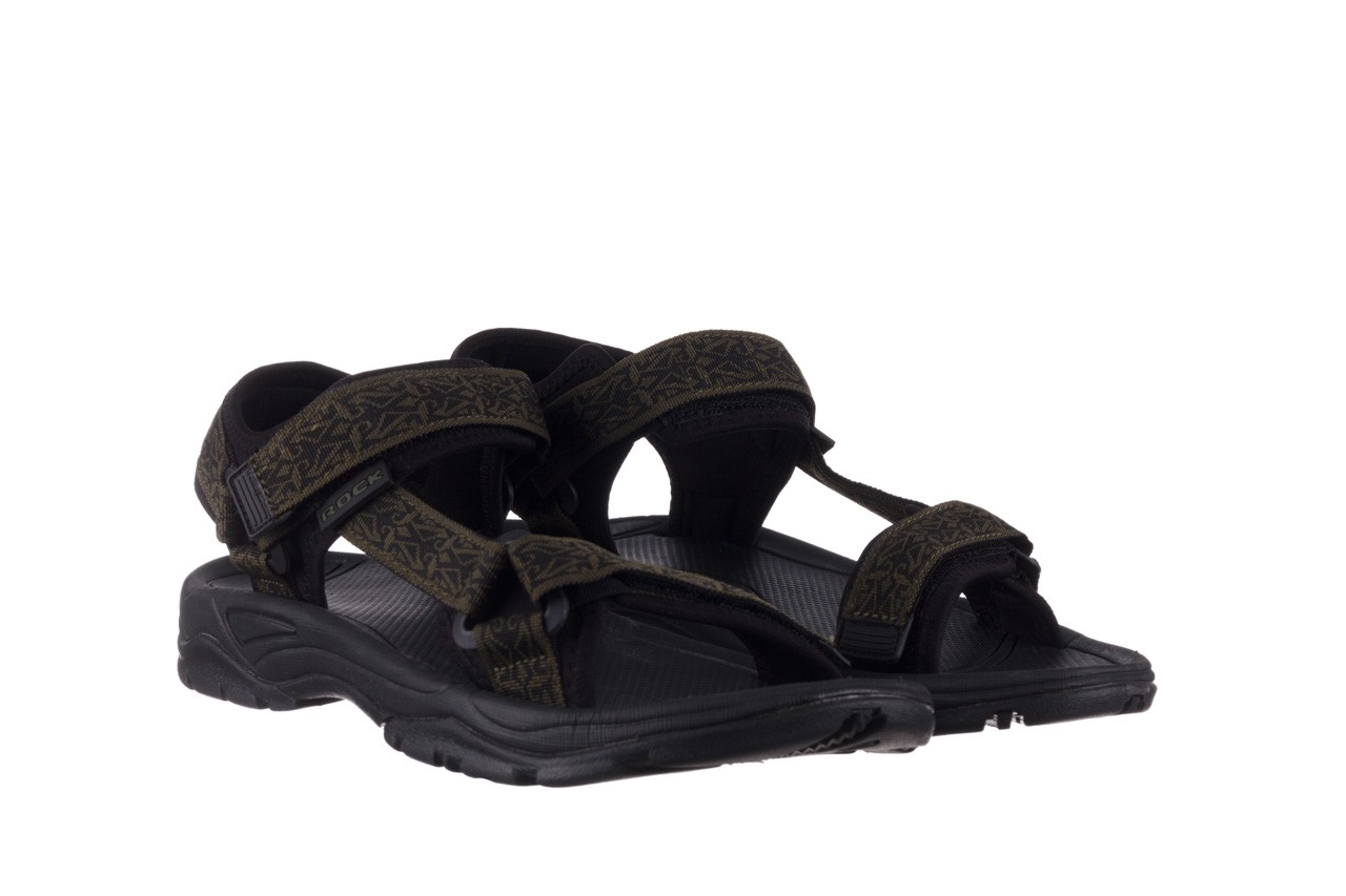 Sandały rock kern moss men, zielony/ czarny, materiał  - buty męskie - mężczyzna 8