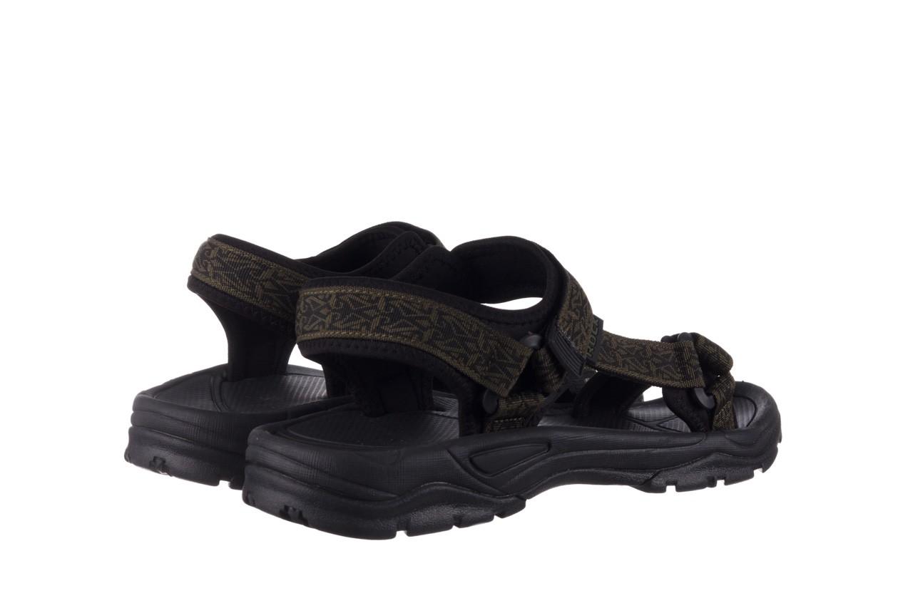 Sandały rock kern moss men, zielony/ czarny, materiał  - buty męskie - mężczyzna 10