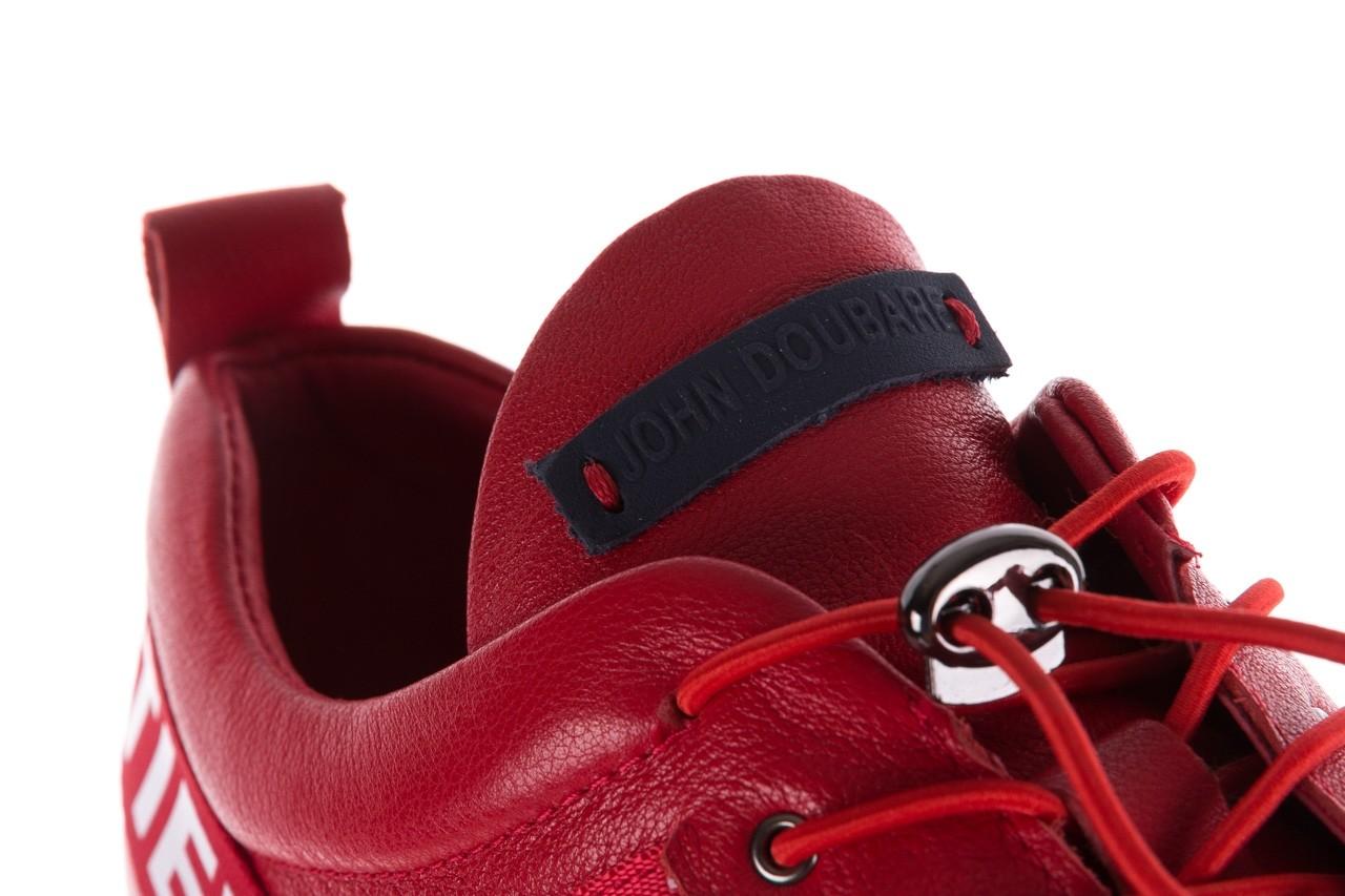 Trampki john doubare m8191-3 red, czerwony, skóra naturalna  - brooman - nasze marki 15