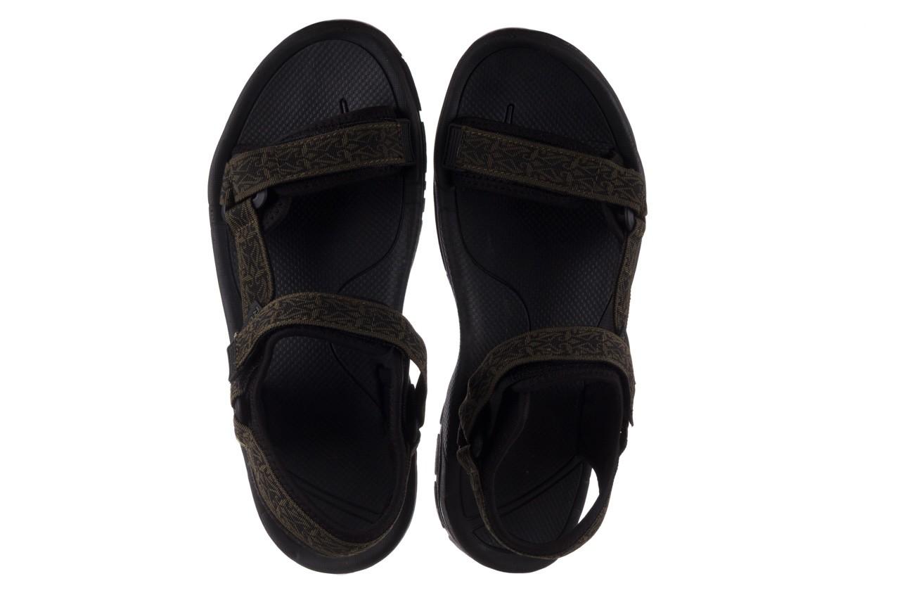 Sandały rock kern moss men, zielony/ czarny, materiał  - buty męskie - mężczyzna 11