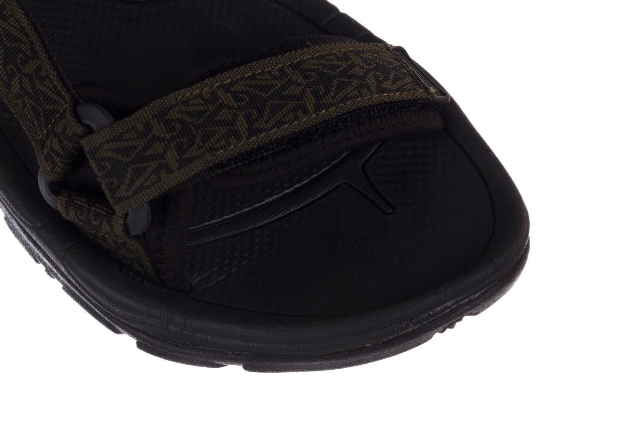Sandały rock kern moss men, zielony/ czarny, materiał  - buty męskie - mężczyzna 12