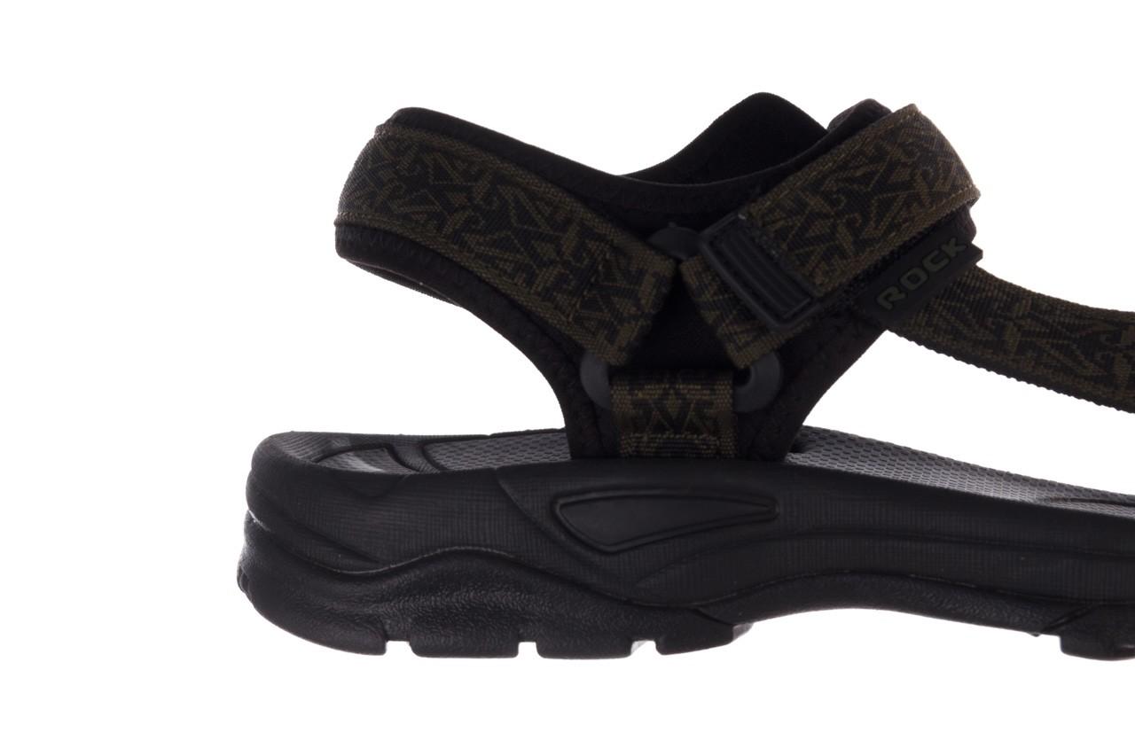 Sandały rock kern moss men, zielony/ czarny, materiał  - buty męskie - mężczyzna 13