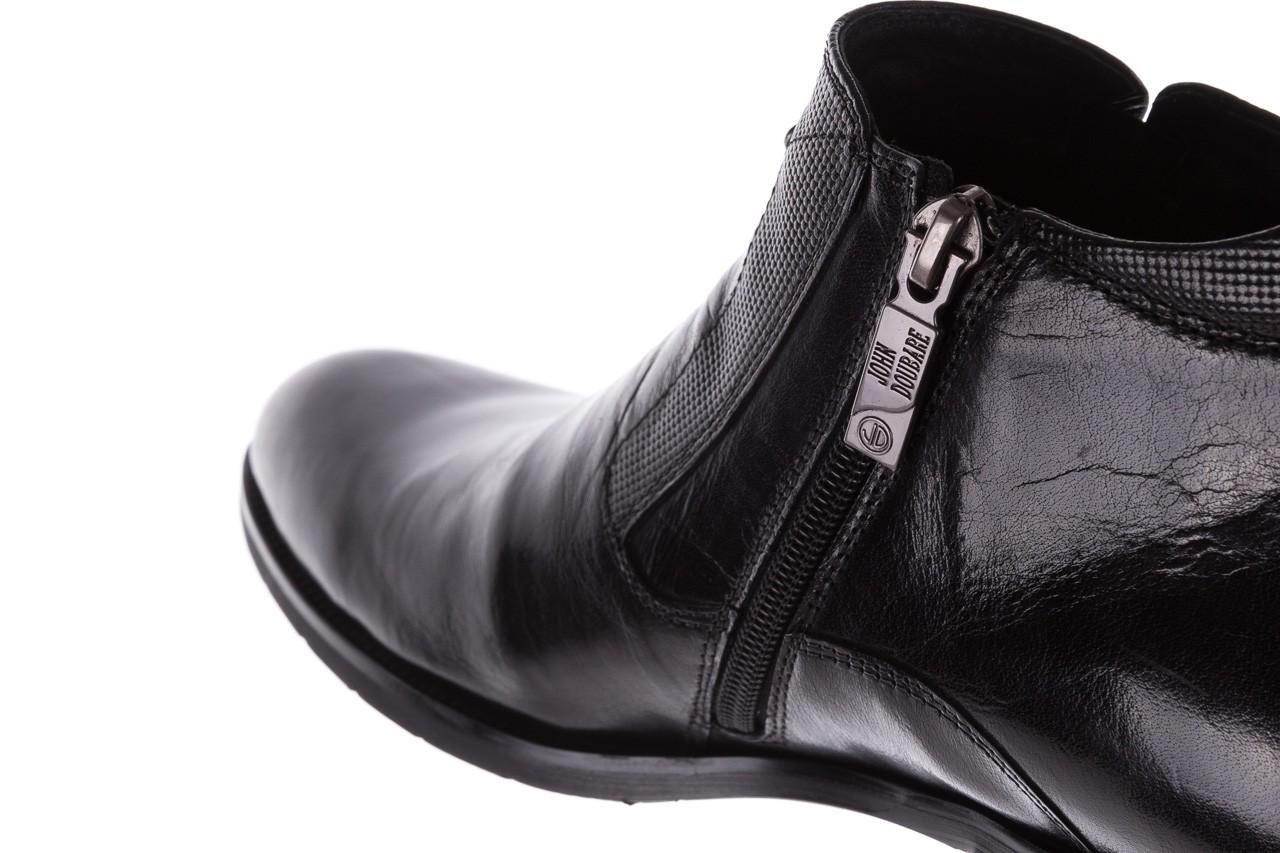 Trzewiki john doubare 720b-719g183-r 19, czarny, skóra naturalna - mężczyzna 13