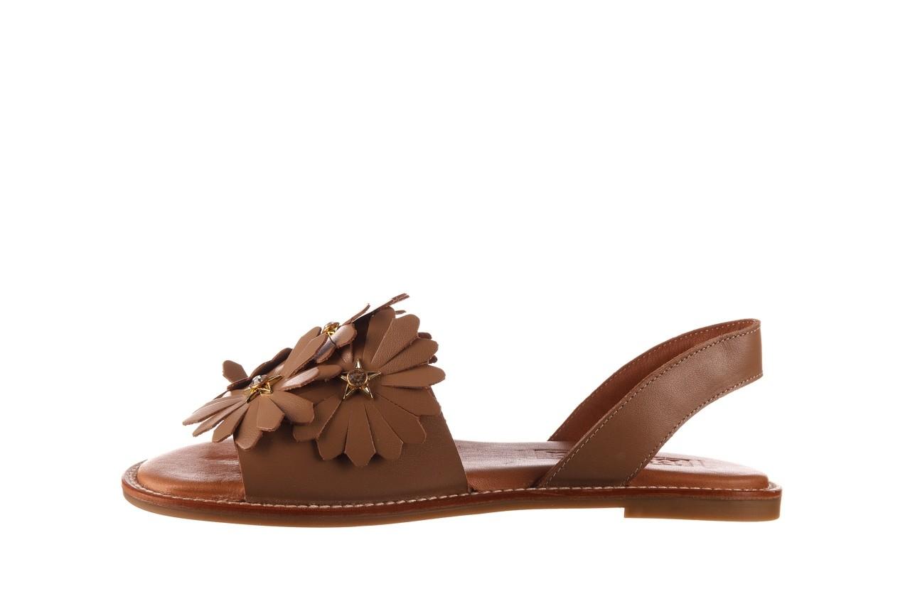 Sandały bayla-190 285 631 530, brąz, skóra naturalna  - płaskie - sandały - buty damskie - kobieta 10