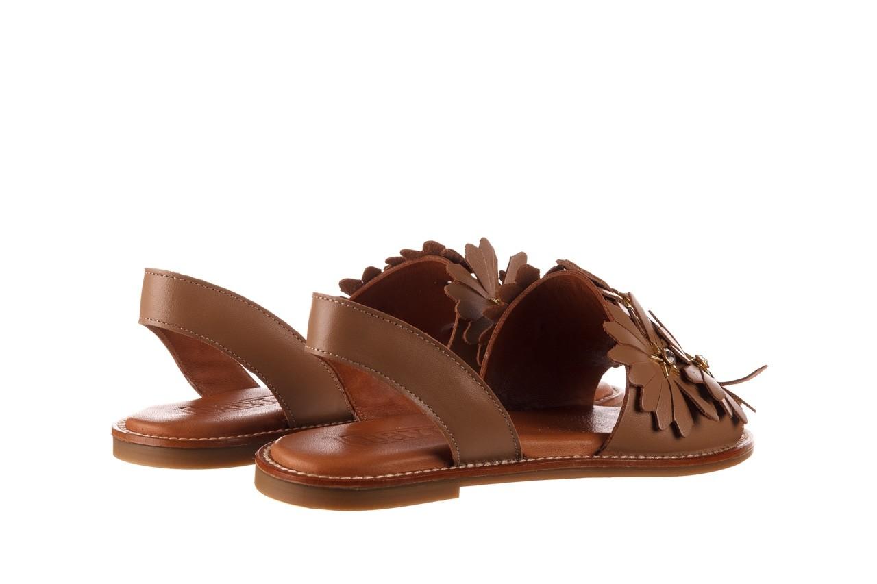 Sandały bayla-190 285 631 530, brąz, skóra naturalna  - płaskie - sandały - buty damskie - kobieta 11