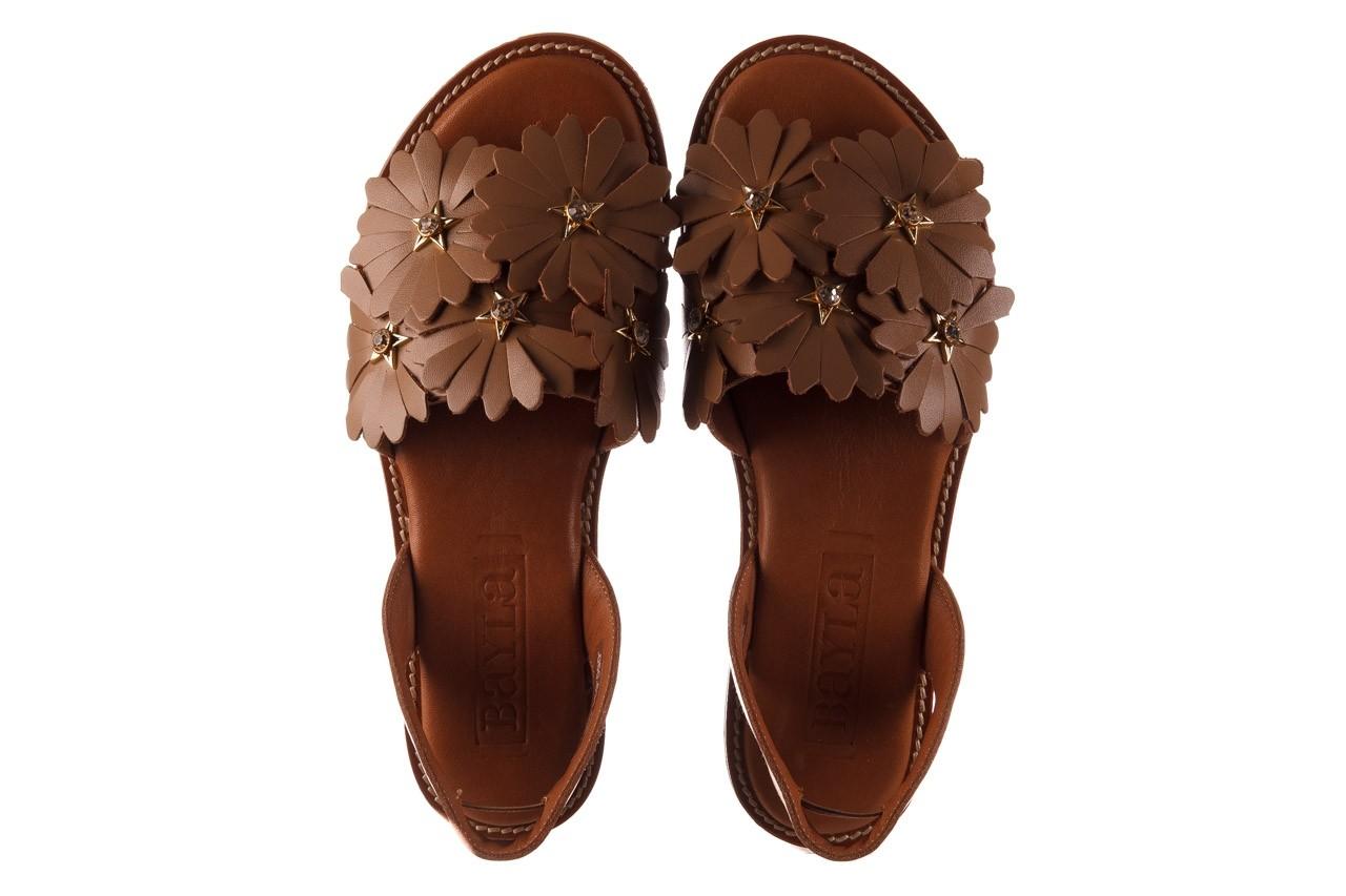 Sandały bayla-190 285 631 530, brąz, skóra naturalna  - płaskie - sandały - buty damskie - kobieta 12