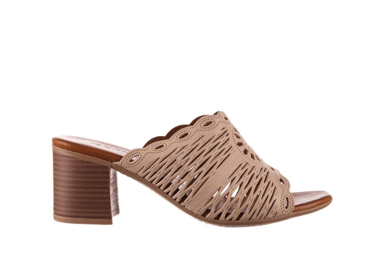 Klapki bayla-190 409 sb15 03, beż, skóra naturalna  - klapki - buty damskie - kobieta 8