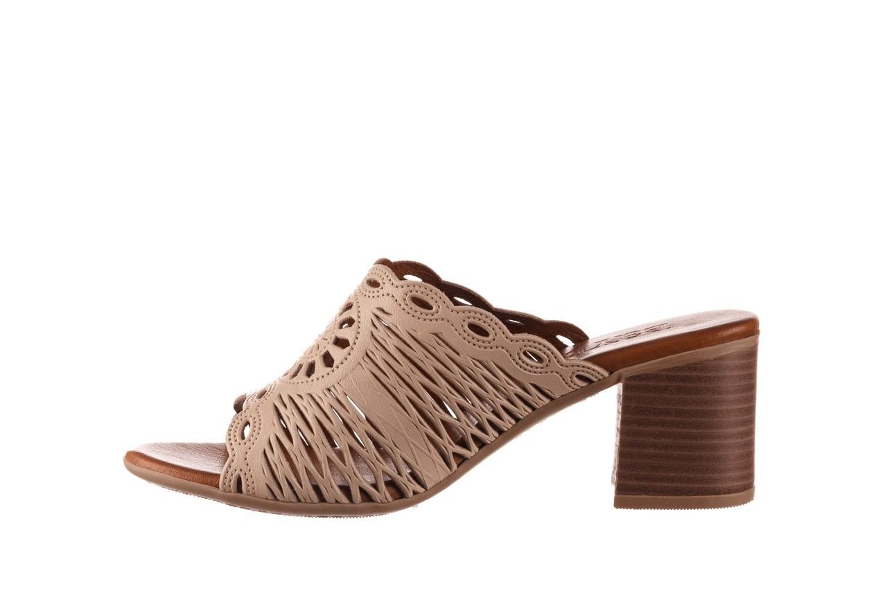 Klapki bayla-190 409 sb15 03, beż, skóra naturalna  - klapki - buty damskie - kobieta 10