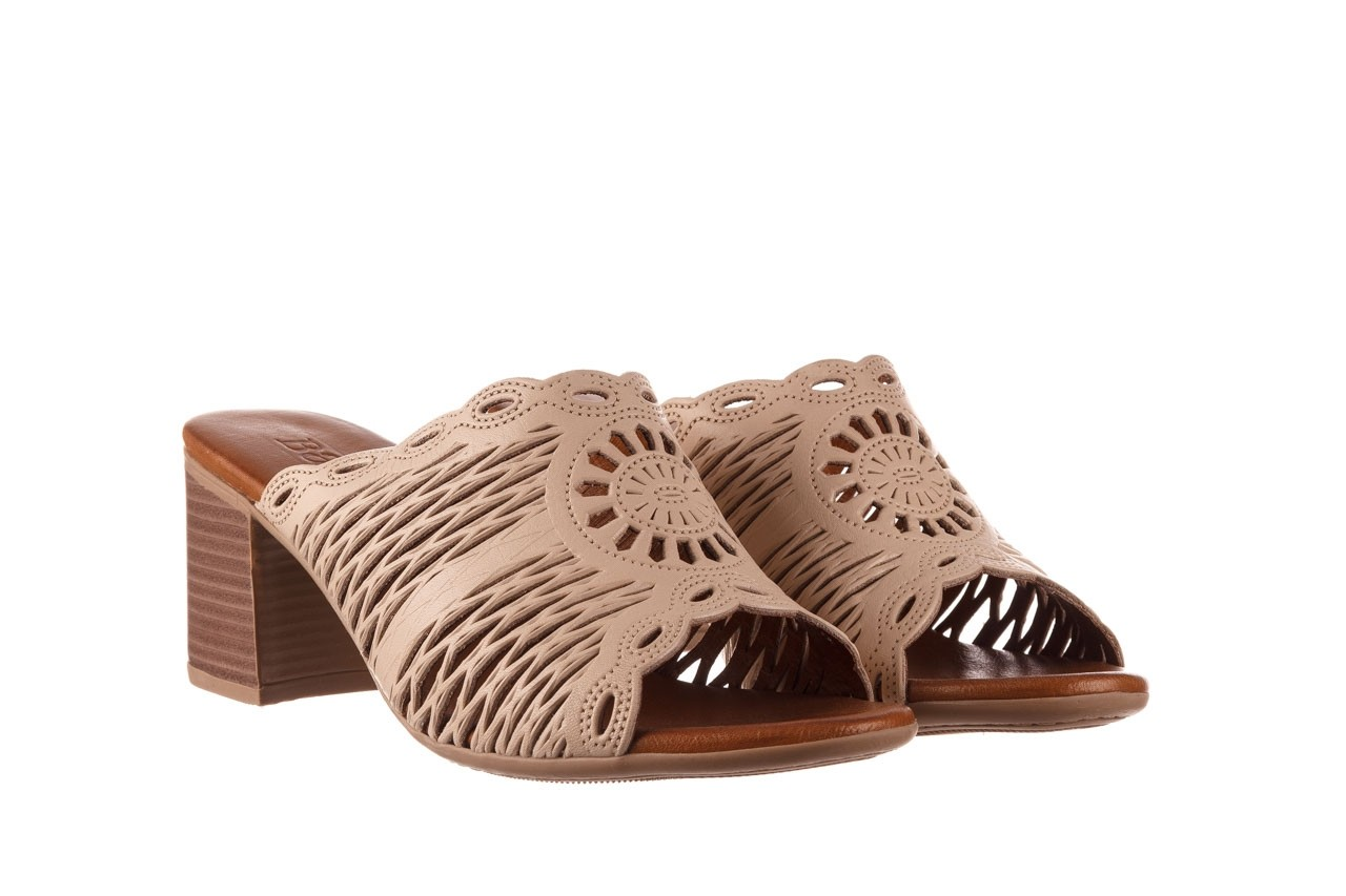 Klapki bayla-190 409 sb15 03, beż, skóra naturalna  - klapki - buty damskie - kobieta 9