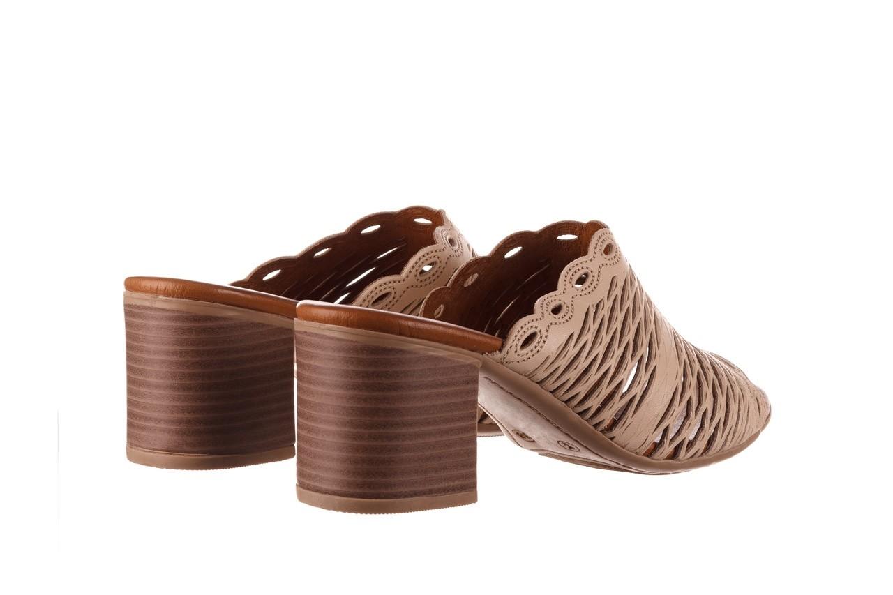 Klapki bayla-190 409 sb15 03, beż, skóra naturalna  - klapki - buty damskie - kobieta 11
