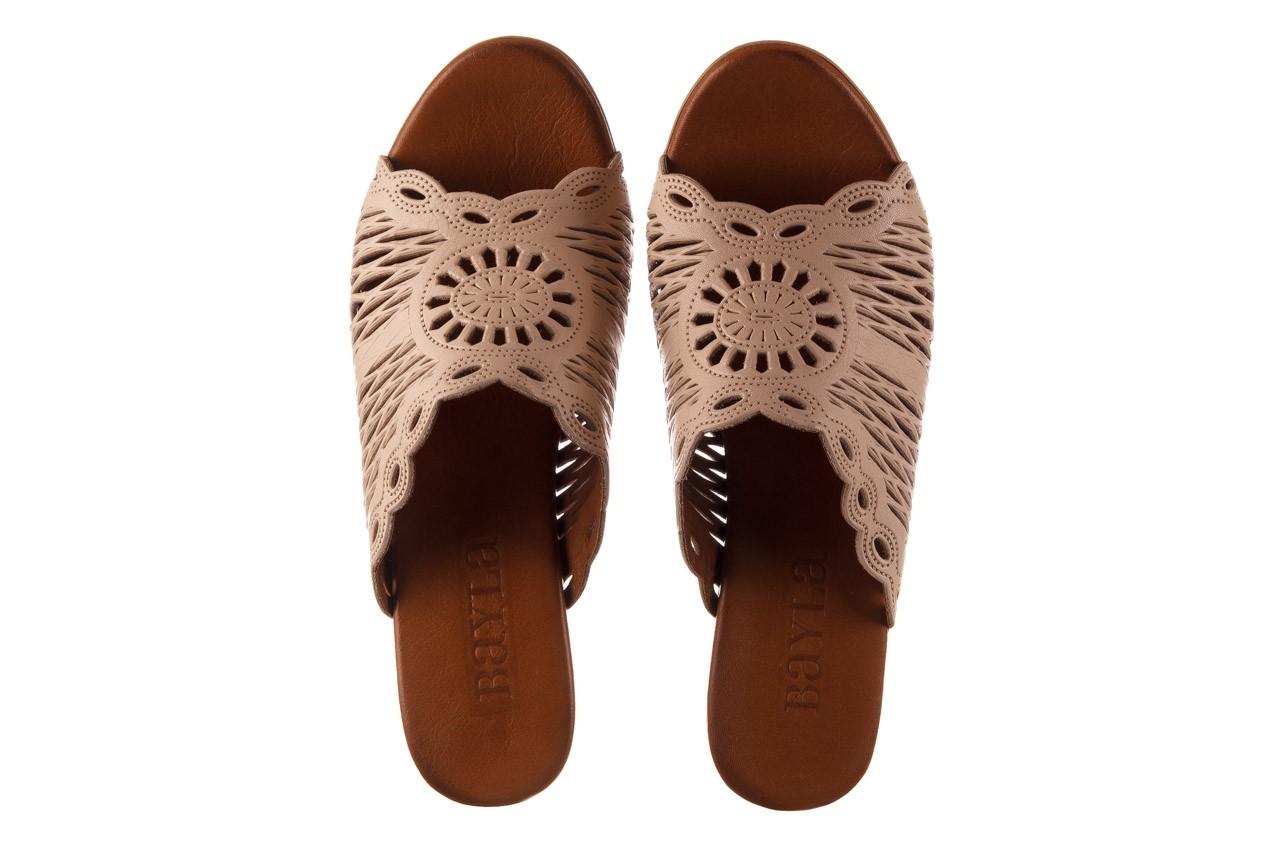 Klapki bayla-190 409 sb15 03, beż, skóra naturalna  - klapki - buty damskie - kobieta 12