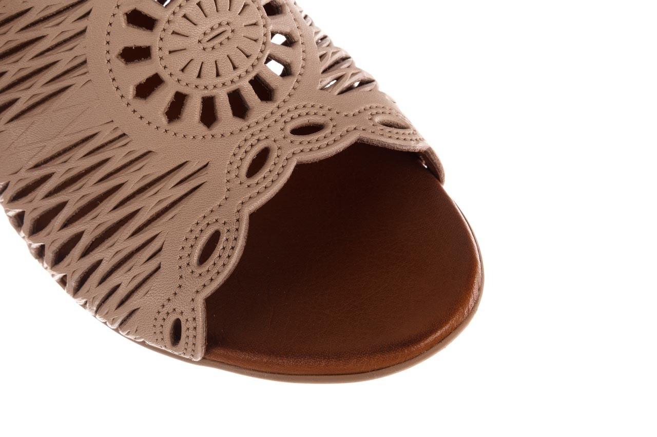 Klapki bayla-190 409 sb15 03, beż, skóra naturalna  - klapki - buty damskie - kobieta 13