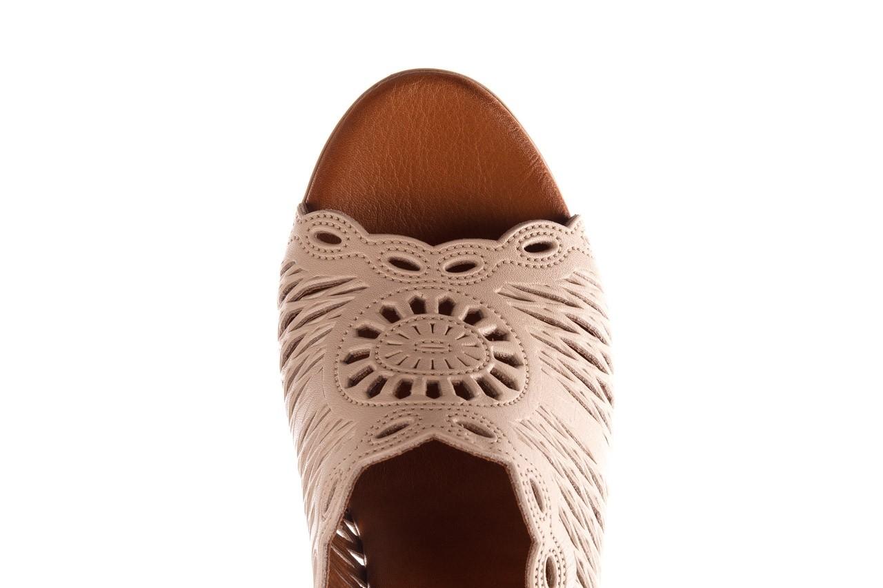 Klapki bayla-190 409 sb15 03, beż, skóra naturalna  - klapki - buty damskie - kobieta 14