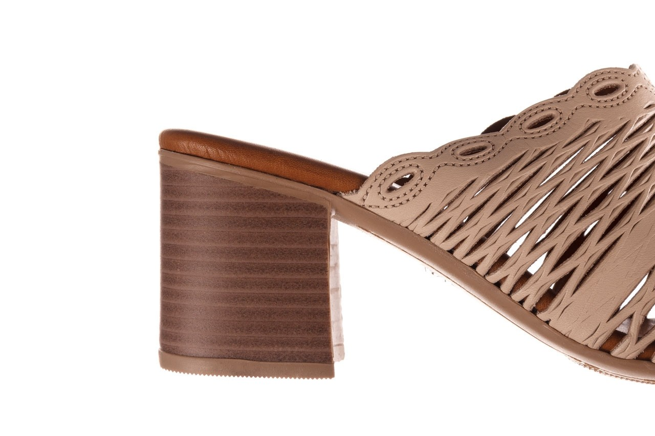 Klapki bayla-190 409 sb15 03, beż, skóra naturalna  - klapki - buty damskie - kobieta 15
