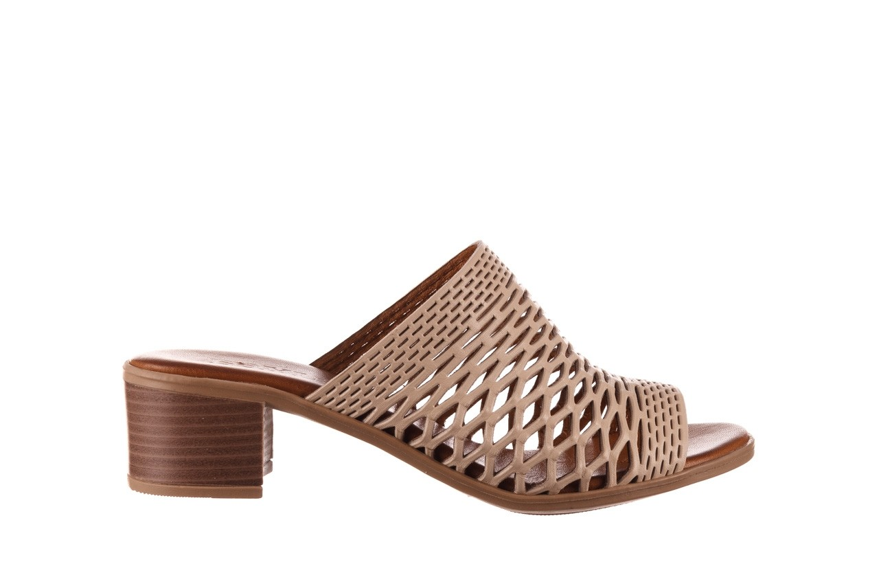 Klapki bayla-190 409 sb3 03, beż, skóra naturalna  - klapki - buty damskie - kobieta 9