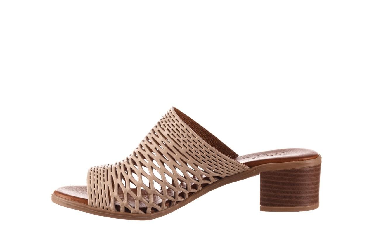 Klapki bayla-190 409 sb3 03, beż, skóra naturalna  - klapki - buty damskie - kobieta 11