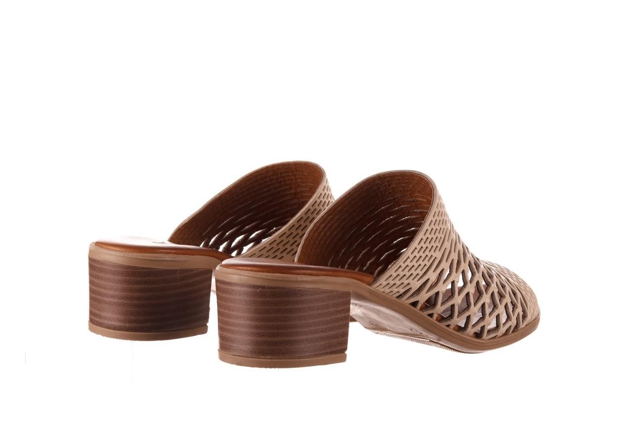 Klapki bayla-190 409 sb3 03, beż, skóra naturalna  - klapki - buty damskie - kobieta 12