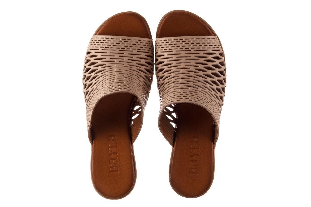 Klapki bayla-190 409 sb3 03, beż, skóra naturalna  - klapki - buty damskie - kobieta 13