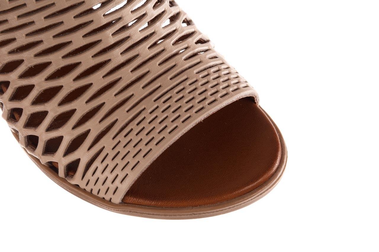 Klapki bayla-190 409 sb3 03, beż, skóra naturalna  - klapki - buty damskie - kobieta 14