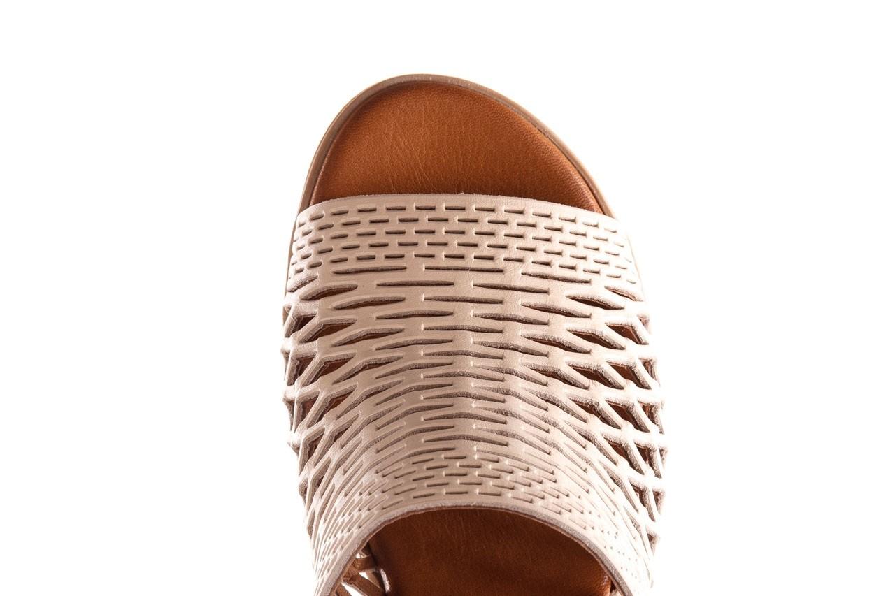 Klapki bayla-190 409 sb3 03, beż, skóra naturalna  - klapki - buty damskie - kobieta 15