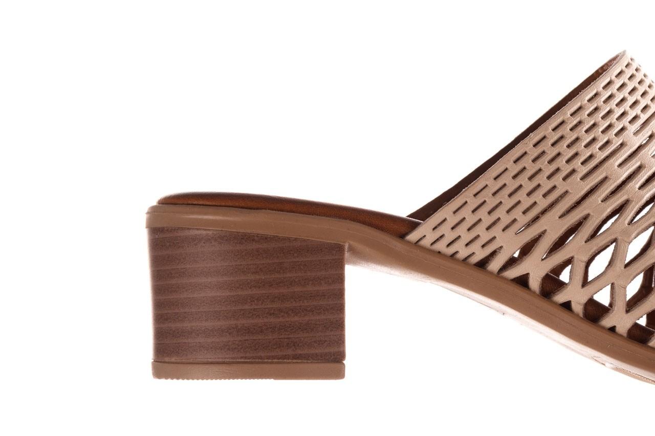 Klapki bayla-190 409 sb3 03, beż, skóra naturalna  - klapki - buty damskie - kobieta 16