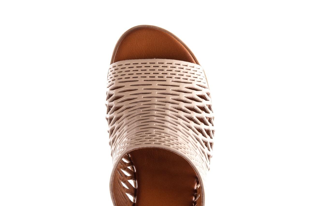 Klapki bayla-190 409 sb3 03, beż, skóra naturalna  - klapki - buty damskie - kobieta 17