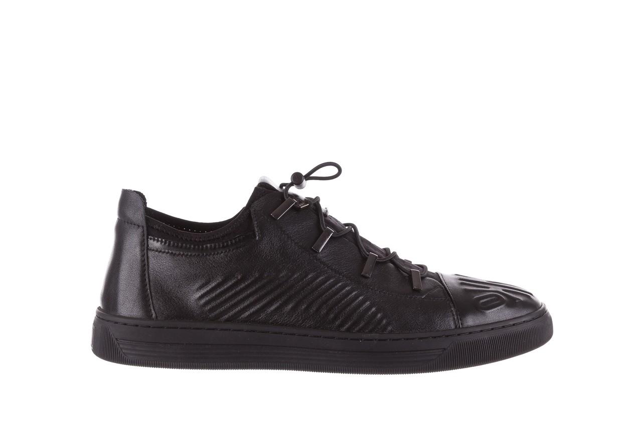 Trampki john doubare s8016-xt6820-1 black, czarny , skóra naturalna - brooman - nasze marki 9