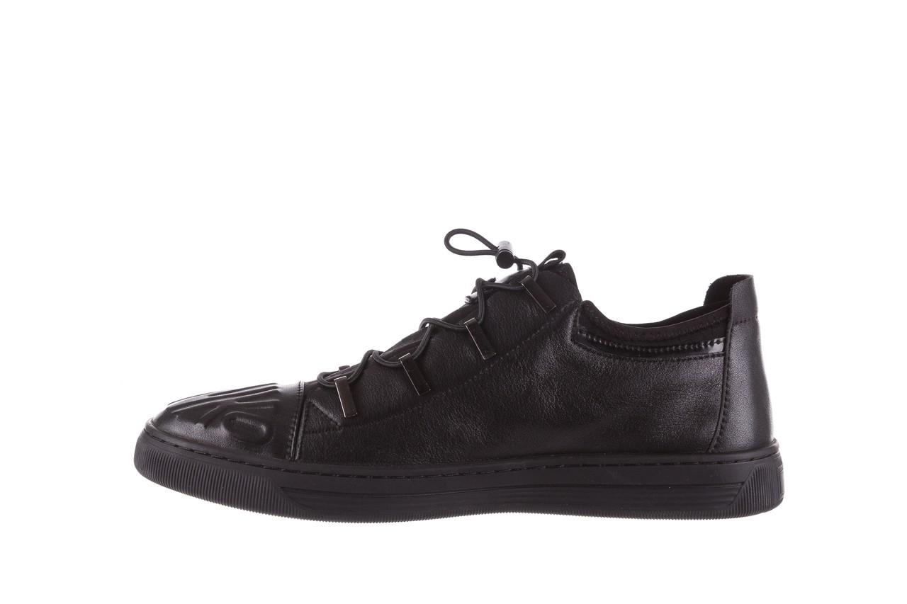 Trampki john doubare s8016-xt6820-1 black, czarny , skóra naturalna - brooman - nasze marki 11
