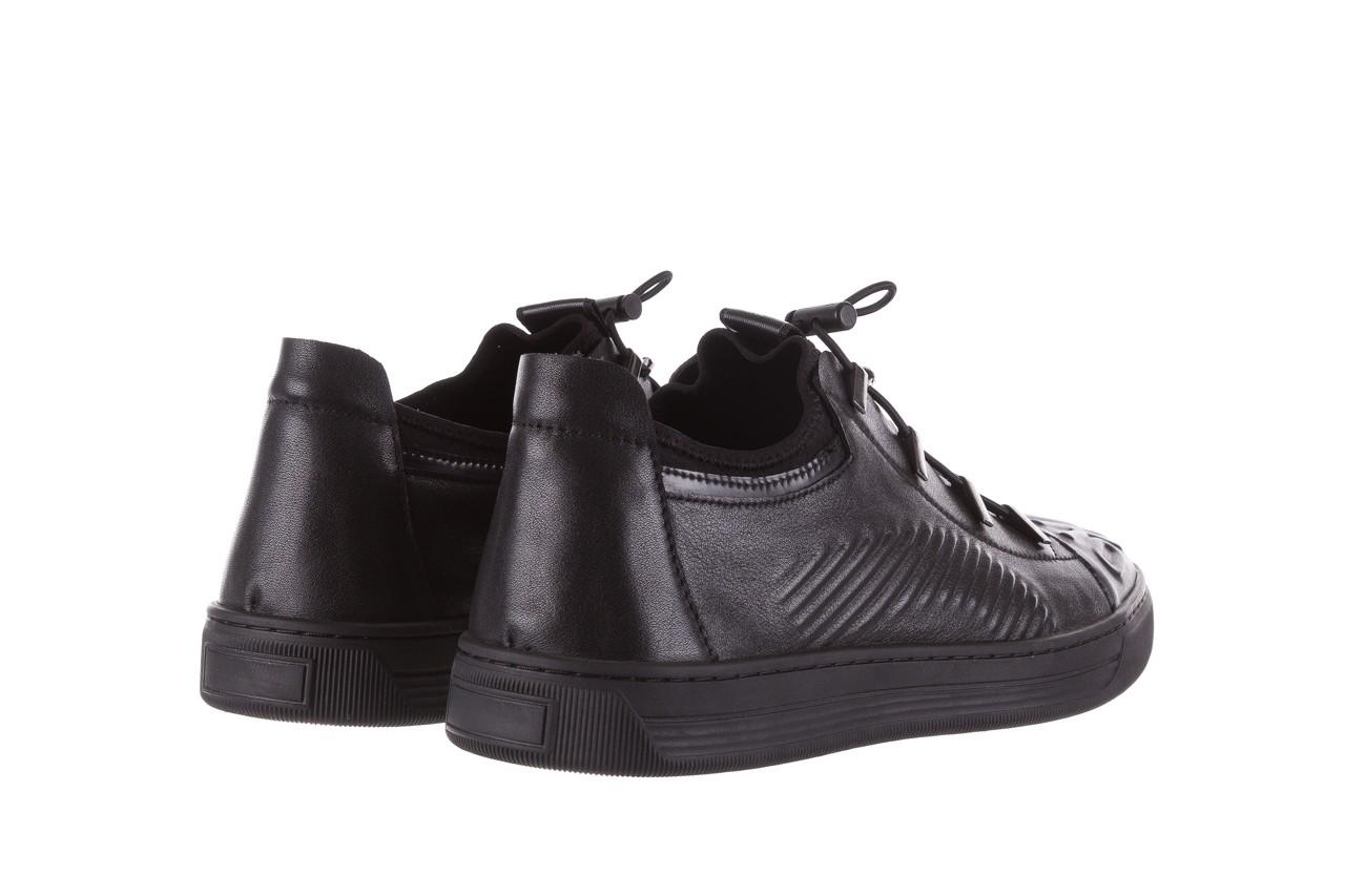 Trampki john doubare s8016-xt6820-1 black, czarny , skóra naturalna - brooman - nasze marki 12