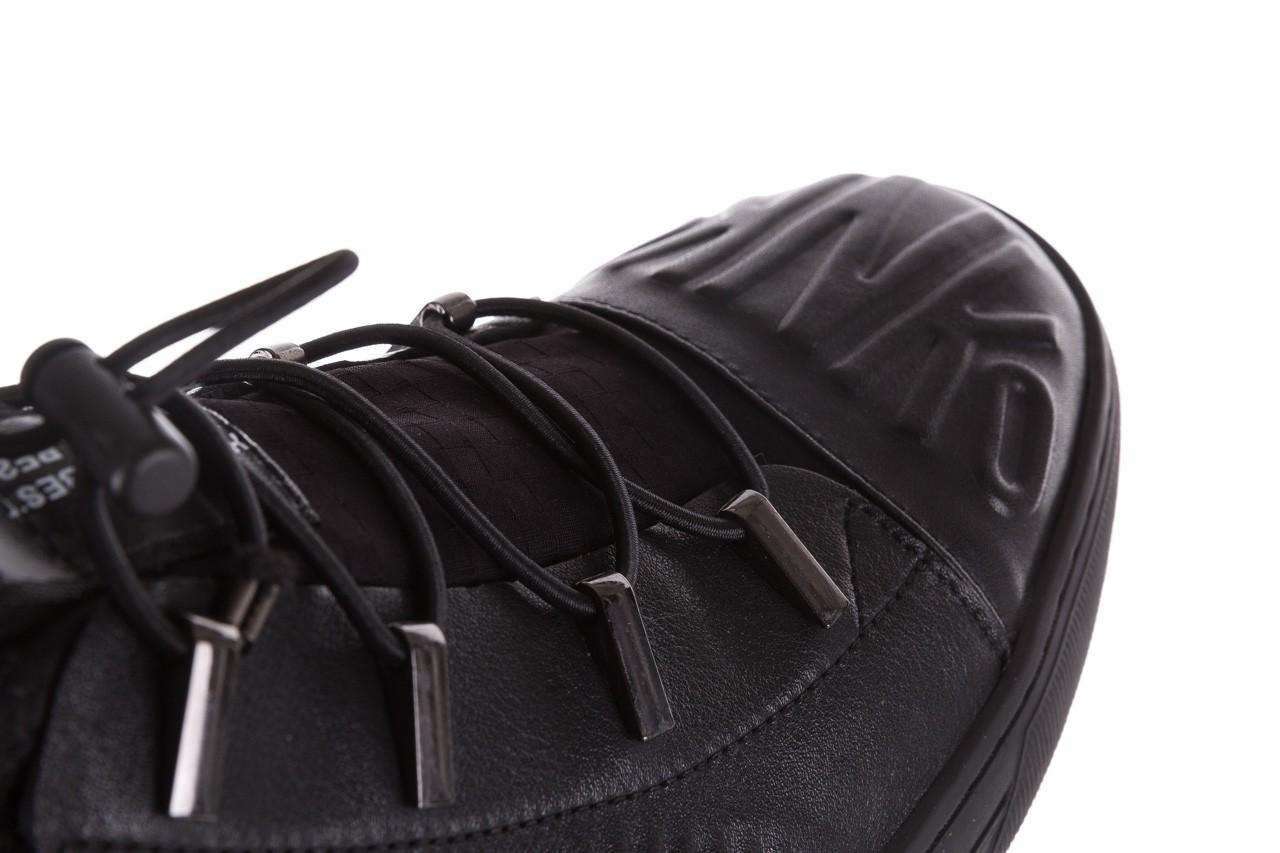 Trampki john doubare s8016-xt6820-1 black, czarny , skóra naturalna - brooman - nasze marki 15