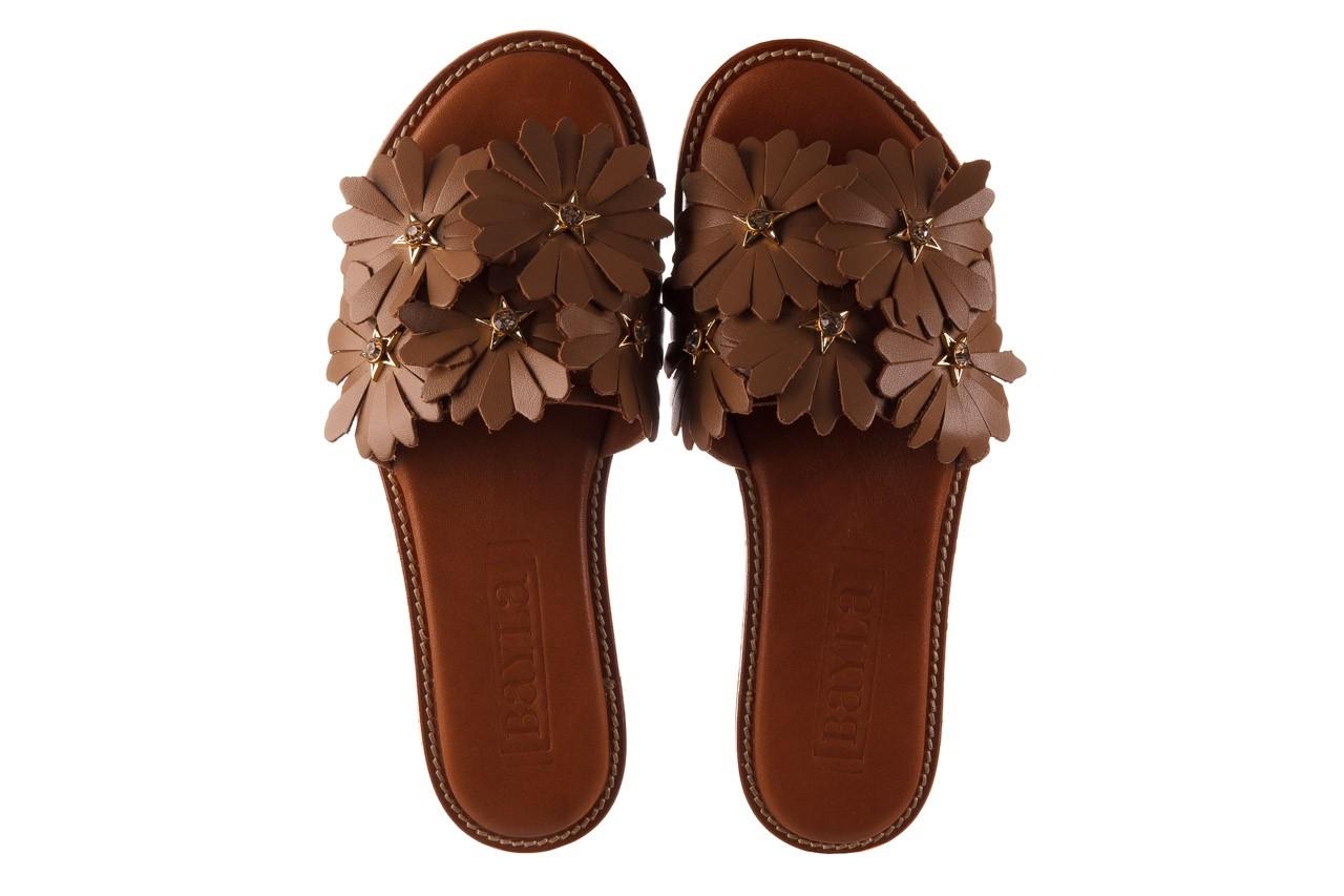 Klapki bayla-190 285 630 530, brąz, skóra naturalna  - klapki - buty damskie - kobieta 11