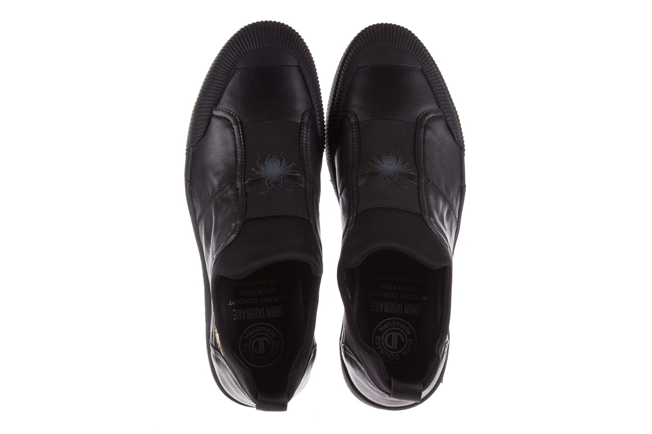 Trampki john doubare s8016-f37517-1 black, czarny, skóra naturalna - brooman - nasze marki 12
