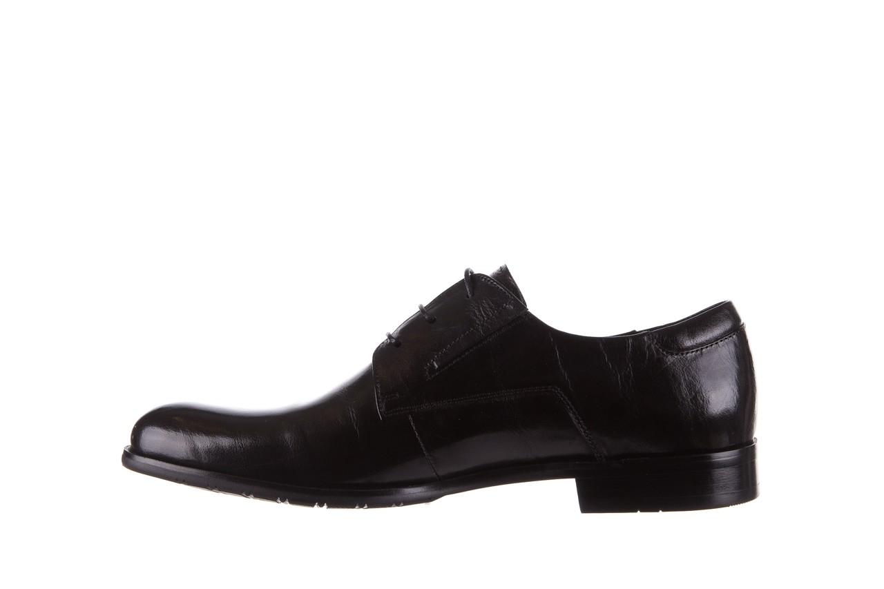 Półbuty brooman 53205a black, czarny, skóra naturalna  - mężczyzna 9