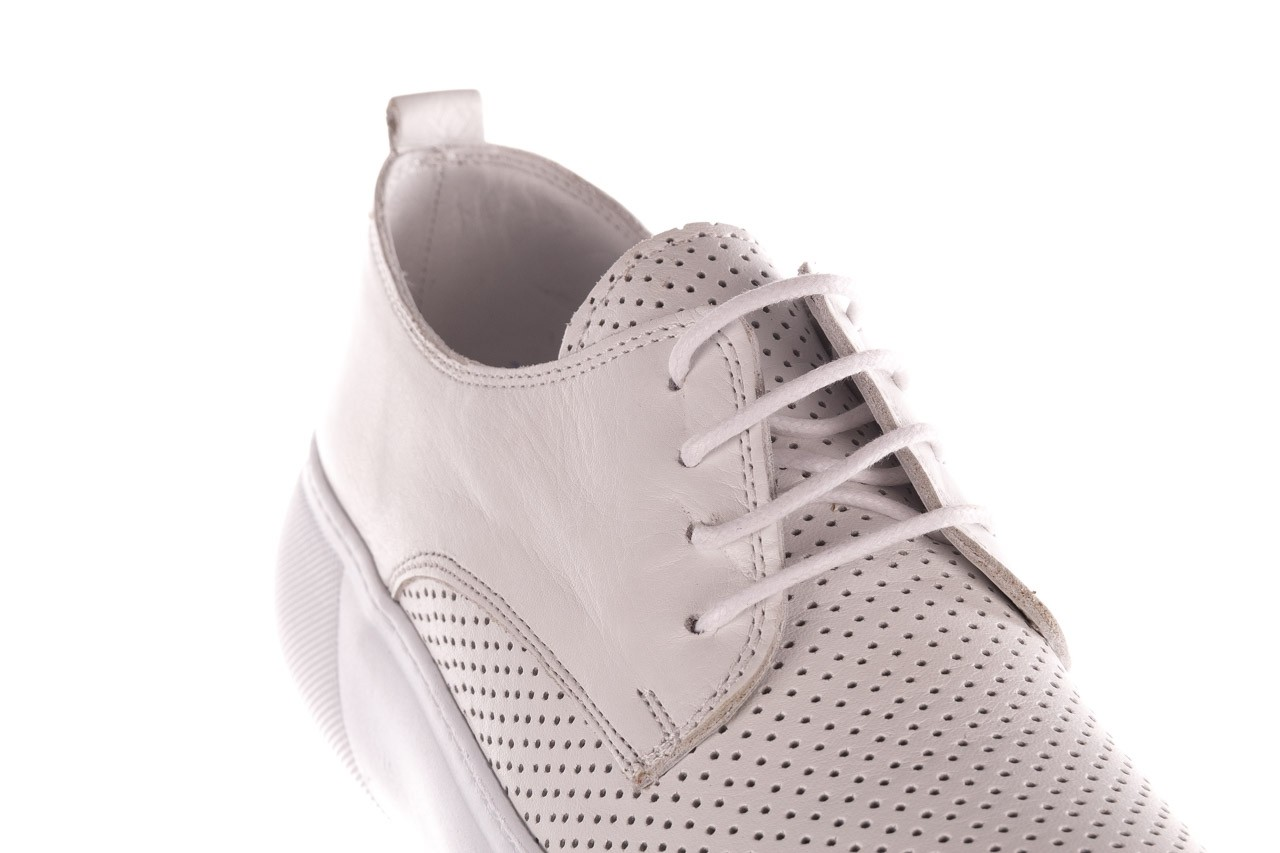 Trampki bayla-190 102 12502 white beyaz, biały, skóra naturalna  - sale 13