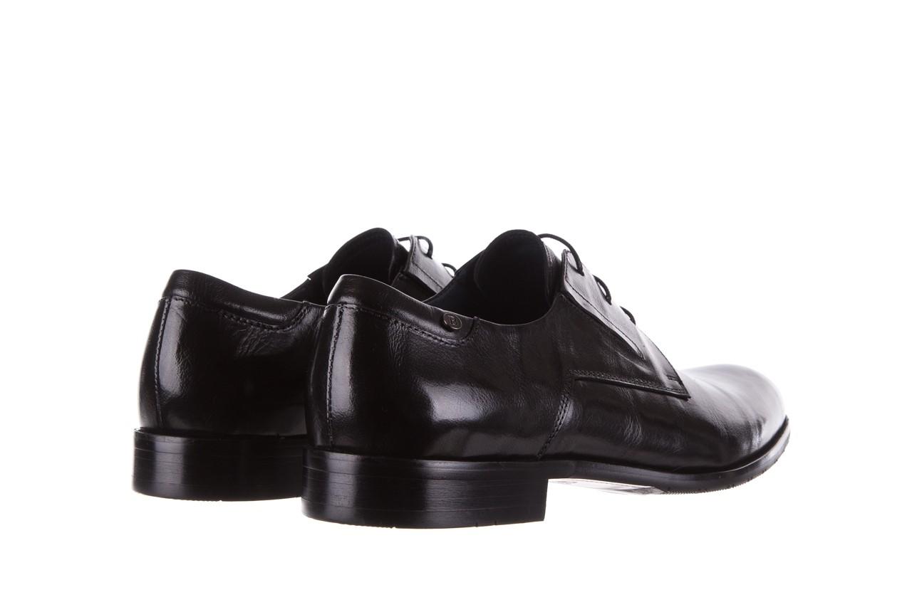 Półbuty brooman 53205a black, czarny, skóra naturalna  - mężczyzna 10