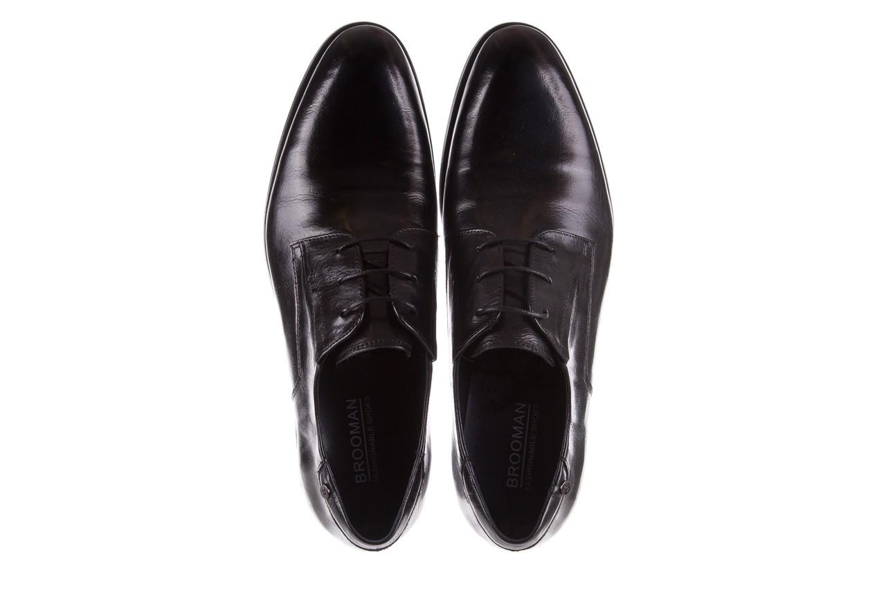 Półbuty brooman 53205a black, czarny, skóra naturalna  - mężczyzna 11
