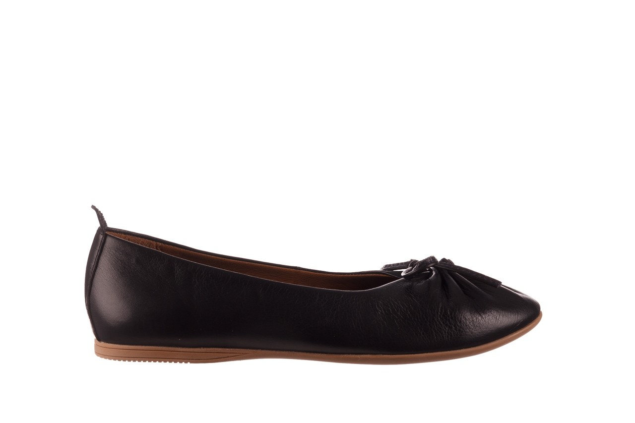 Baleriny bayla-190 757 336k-715 black, czarny, skóry naturalna  - baleriny - dla niej  - sale 8