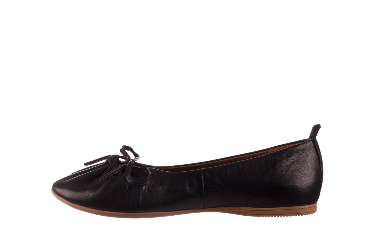 Baleriny bayla-190 757 336k-715 black, czarny, skóry naturalna  - baleriny - dla niej  - sale 10