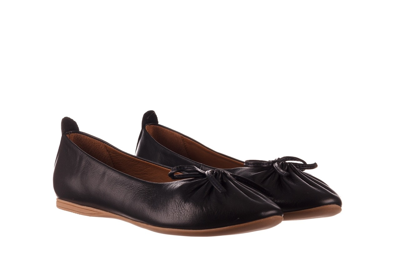 Baleriny bayla-190 757 336k-715 black, czarny, skóry naturalna  - baleriny - dla niej  - sale 9