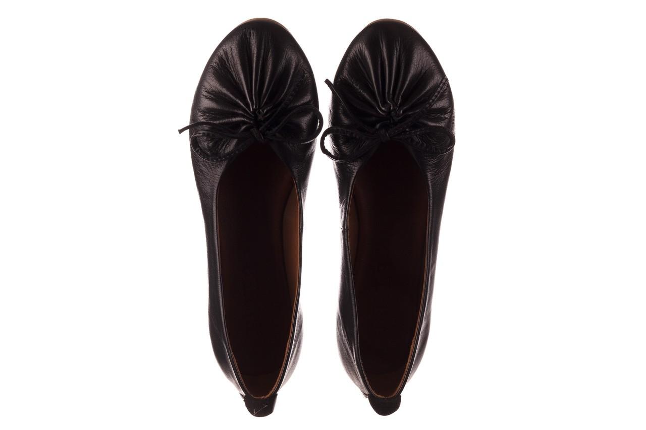 Baleriny bayla-190 757 336k-715 black, czarny, skóry naturalna  - baleriny - dla niej  - sale 12