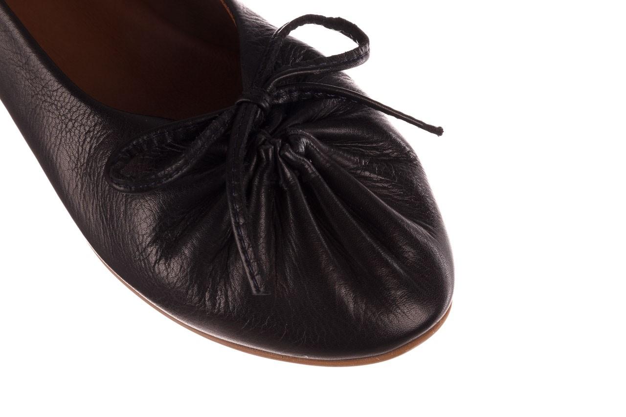 Baleriny bayla-190 757 336k-715 black, czarny, skóry naturalna  - baleriny - dla niej  - sale 13