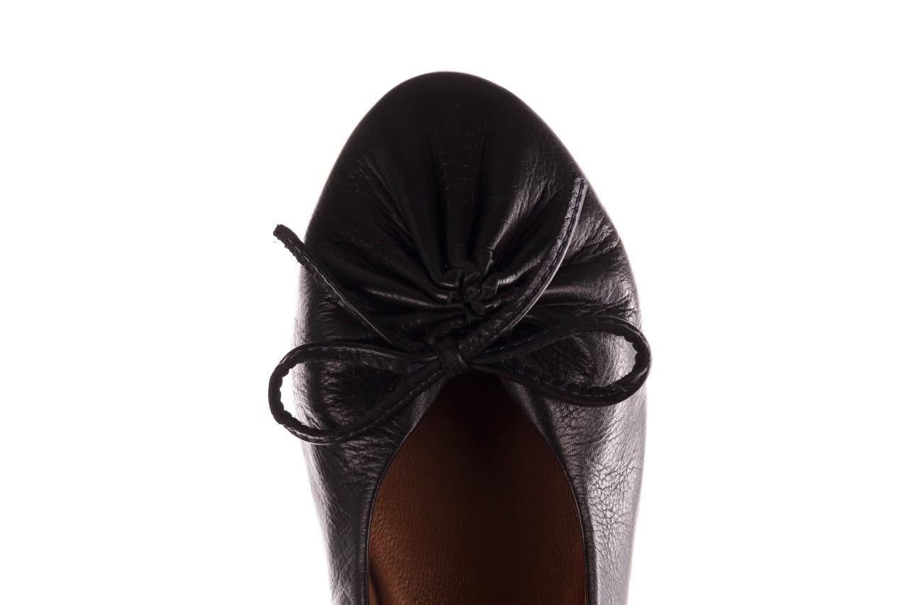 Baleriny bayla-190 757 336k-715 black, czarny, skóry naturalna  - baleriny - dla niej  - sale 15