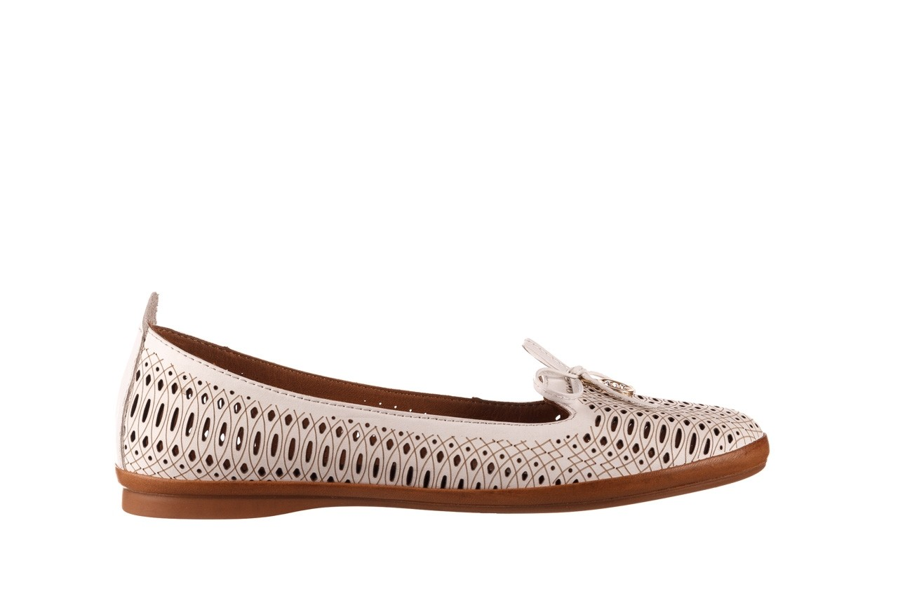 Baleriny bayla-190 262 632 34, biały, skóra naturalna  - ślubne - baleriny - buty damskie - kobieta 8