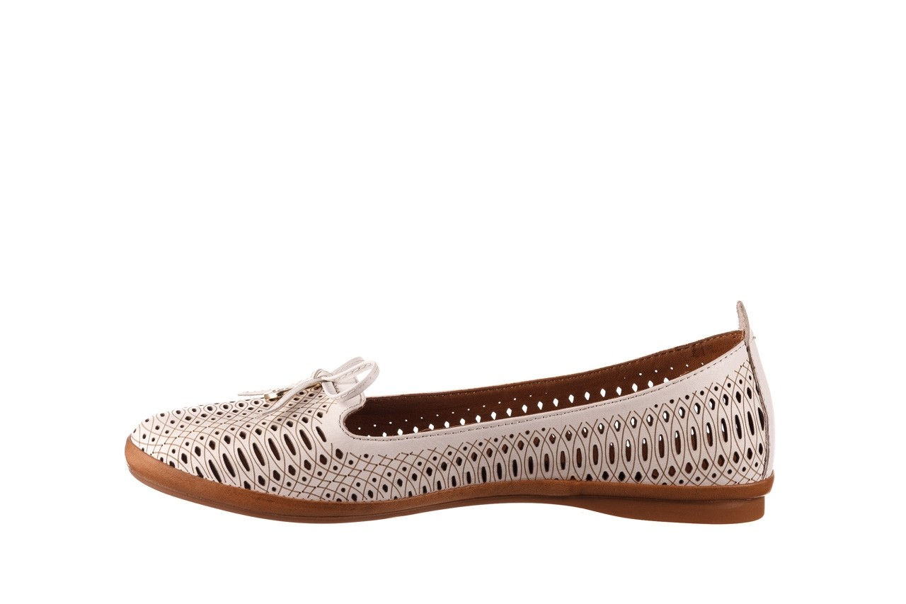 Baleriny bayla-190 262 632 34, biały, skóra naturalna  - ślubne - baleriny - buty damskie - kobieta 10