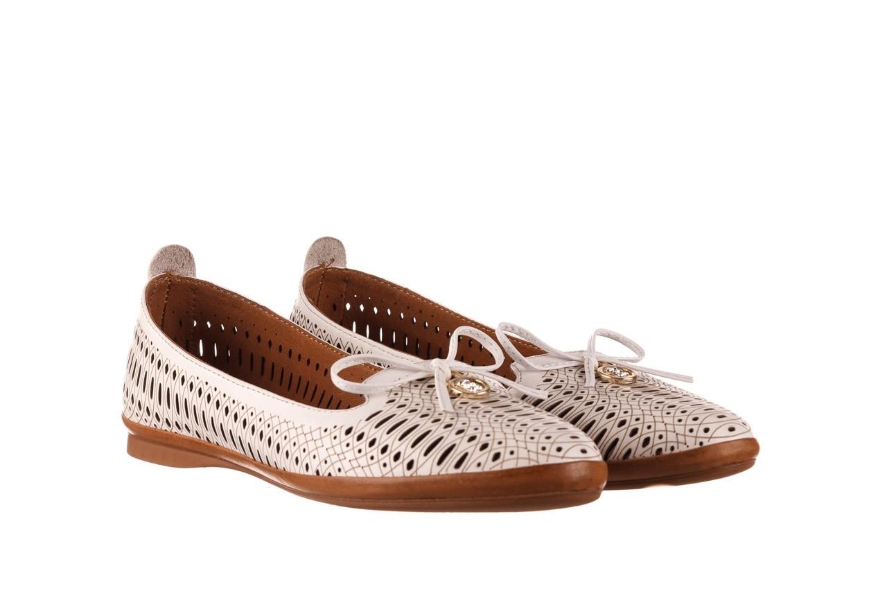 Baleriny bayla-190 262 632 34, biały, skóra naturalna  - ślubne - baleriny - buty damskie - kobieta 9