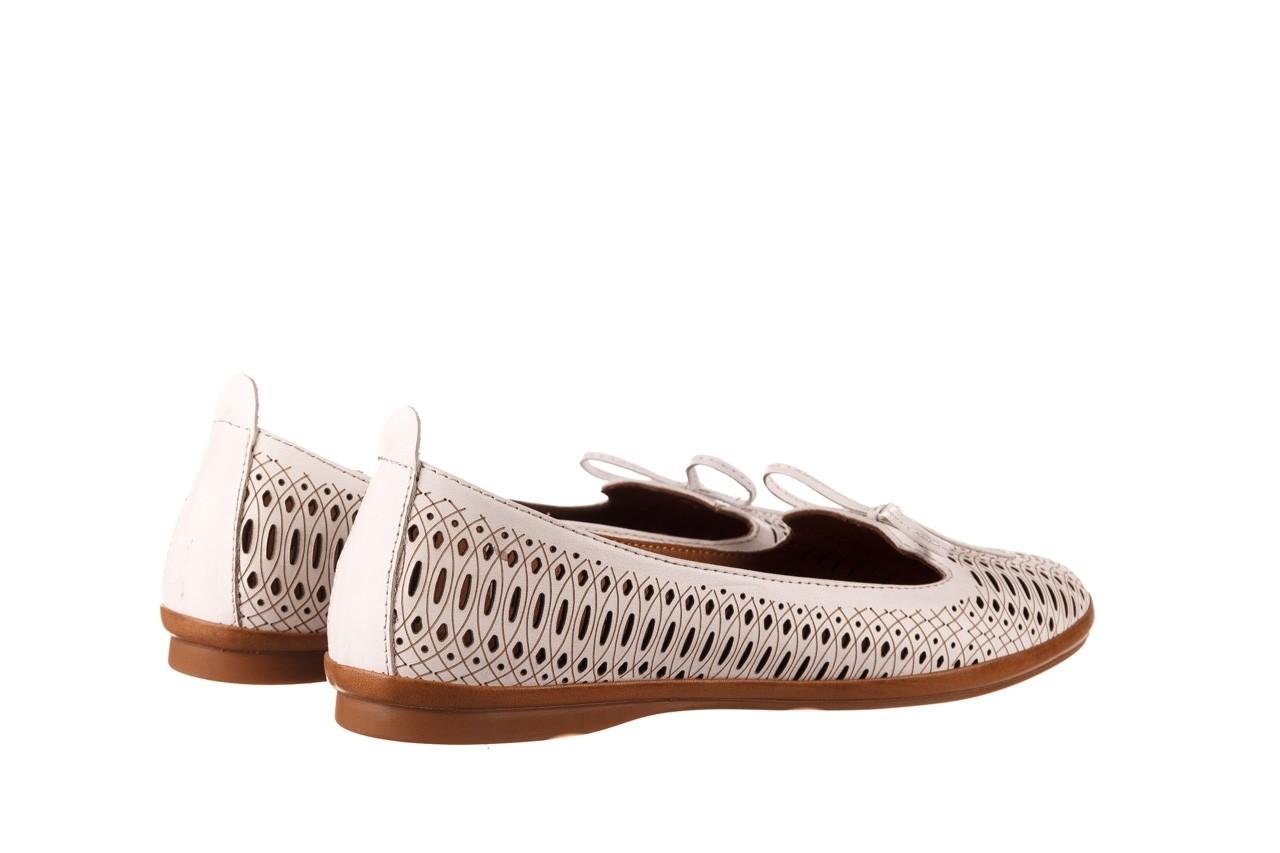 Baleriny bayla-190 262 632 34, biały, skóra naturalna  - ślubne - baleriny - buty damskie - kobieta 11