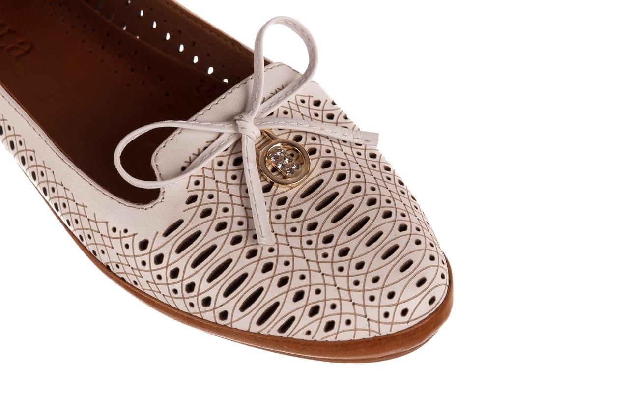 Baleriny bayla-190 262 632 34, biały, skóra naturalna  - ślubne - baleriny - buty damskie - kobieta 14